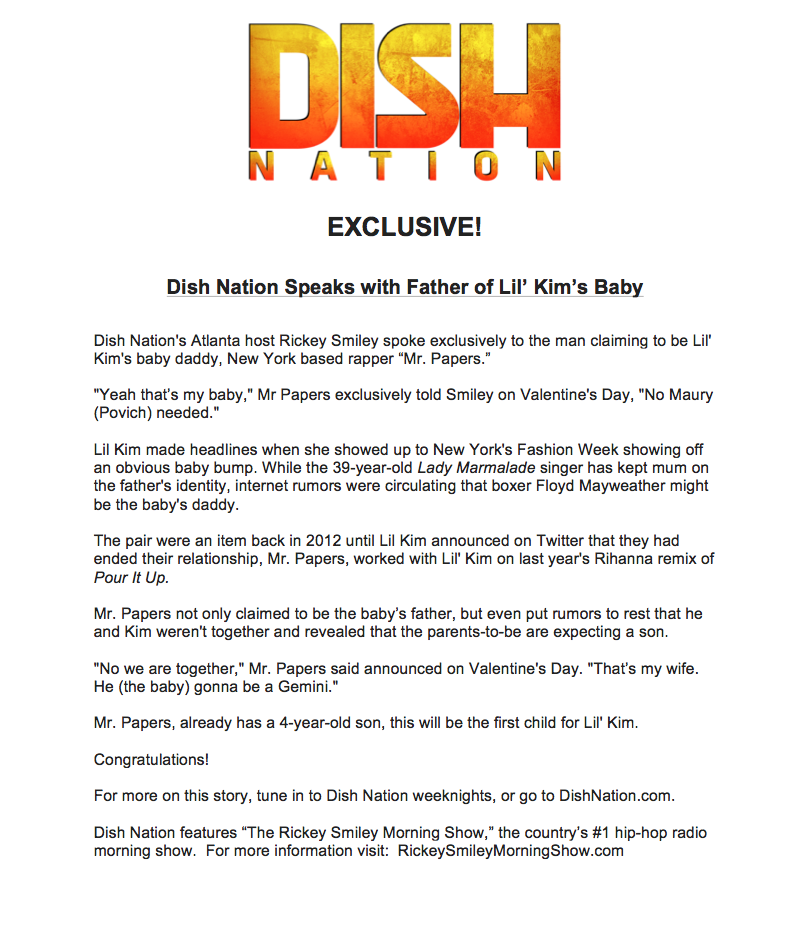 Dish Nation press release