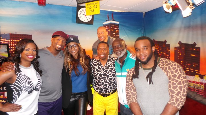 Kandi, Cynthia and Peter With The Rickey Smiley Morning Show