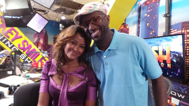 Claudia Jordan and Rickey Smiley