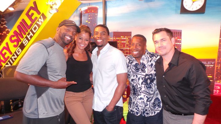 Chadwick Boseman With The Rickey Smiley Morning Show