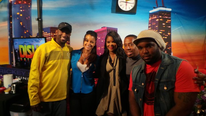 Tameka Raymond Visits The Rickey Smiley Morning Show