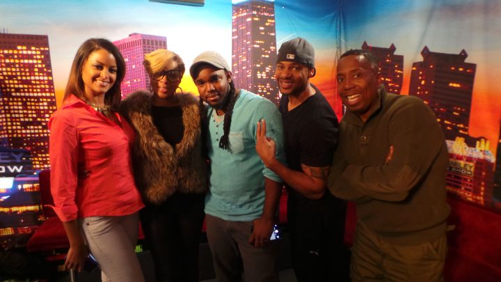 Mary J Blige Visits The Rickey Smiley Morning Show