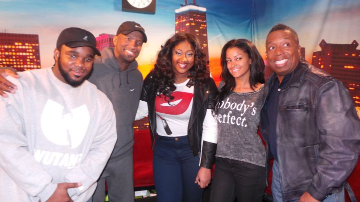 Jasmine Sullivan Visits The Rickey Smiley Morning Show