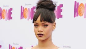Rihanna Home, Not Smiling