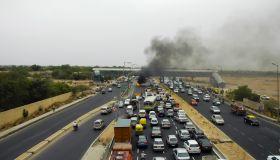 Traffic accident in Delhi