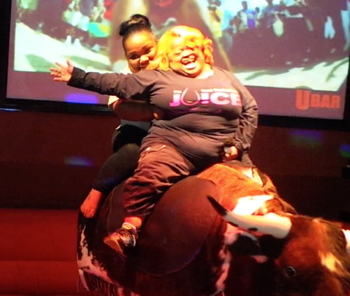 Juicy Rides The Bull!