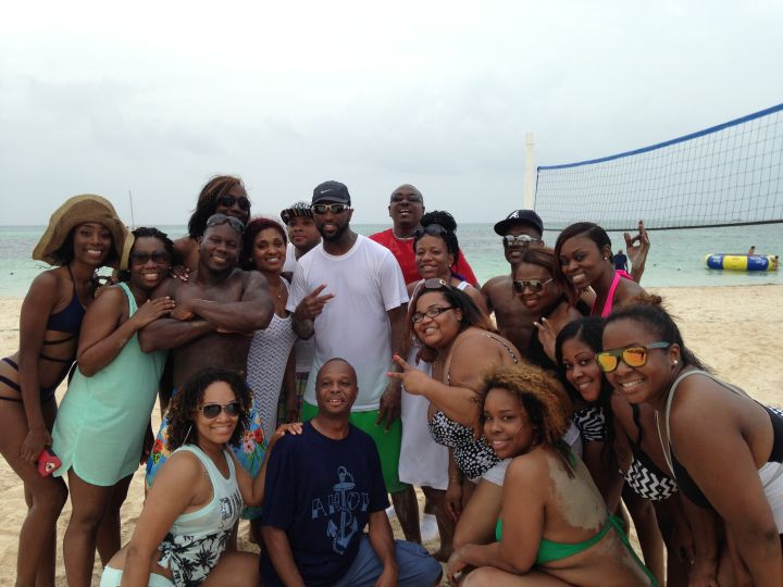 Rickey Smiley & Listeners On The Beach In Punta Cana