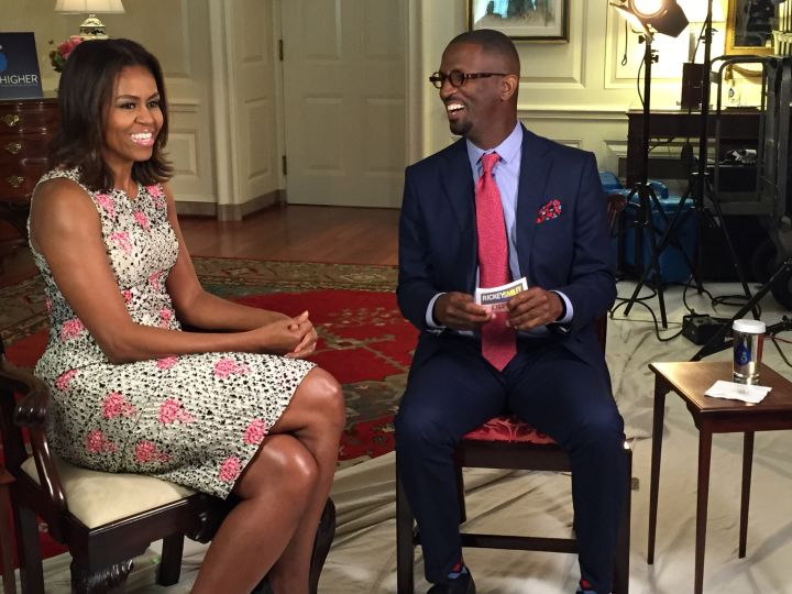 First Lady Michelle Obama And Rickey Smiley