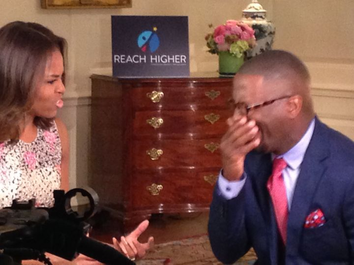 First Lady Michelle Obama & Rickey Smiley