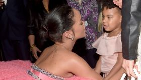 Rihanna and Blue Ivy Carter at the Grammys