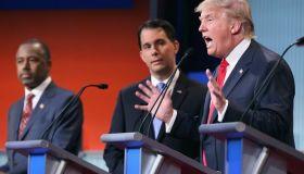 Carson. Walker, Trump at GOP August 2015 Debate