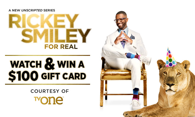 Watch & WIN a $100.00 gift card courtesy of TV One