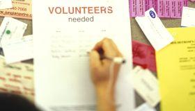 Signing a Volunteers Needed List