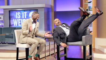 Rickey Smiley Visits Steve Harvey's TV Show!