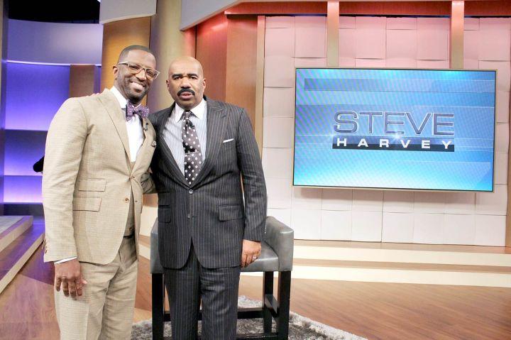 Rickey Smiley Visits Steve Harvey's TV Show!