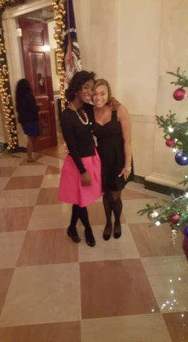 Rickey Smiley & Aaryn Attend White House Christmas Party