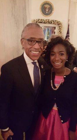Rev. Al Sharpton & Aaryn Attend White House Christmas Party