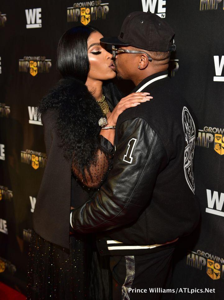 Joseline Hernandez & Stevie J share a kiss!