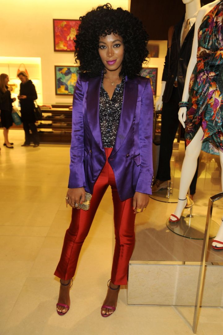 Solange Knowles attends the re-opening of the Ferragamo Fifth Avenue Flagship Re-Opening