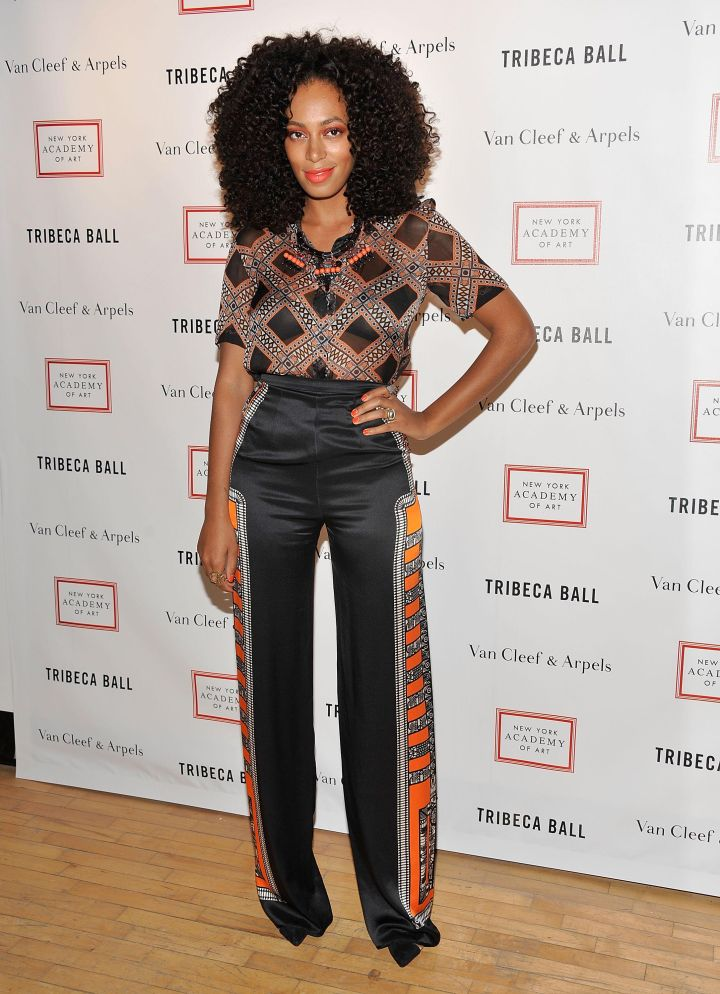 Solange Knowles attends the Tribeca Ball 2012