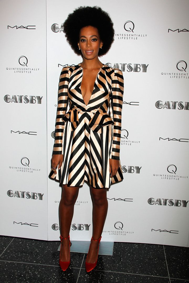 """Solange Knowles attends the Pre-Met Ball screening of """"The Great Gatsby"""" at The Museum of Modern Art"""