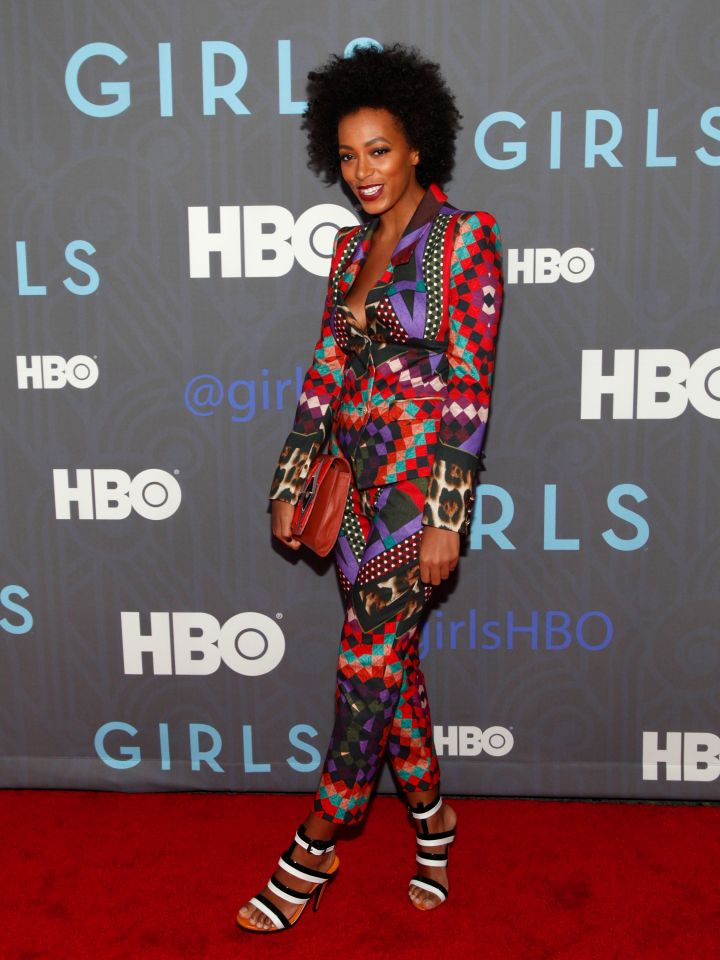 """Solange Knowles attends the HBO """"Girls"""" season 2 premiere"""