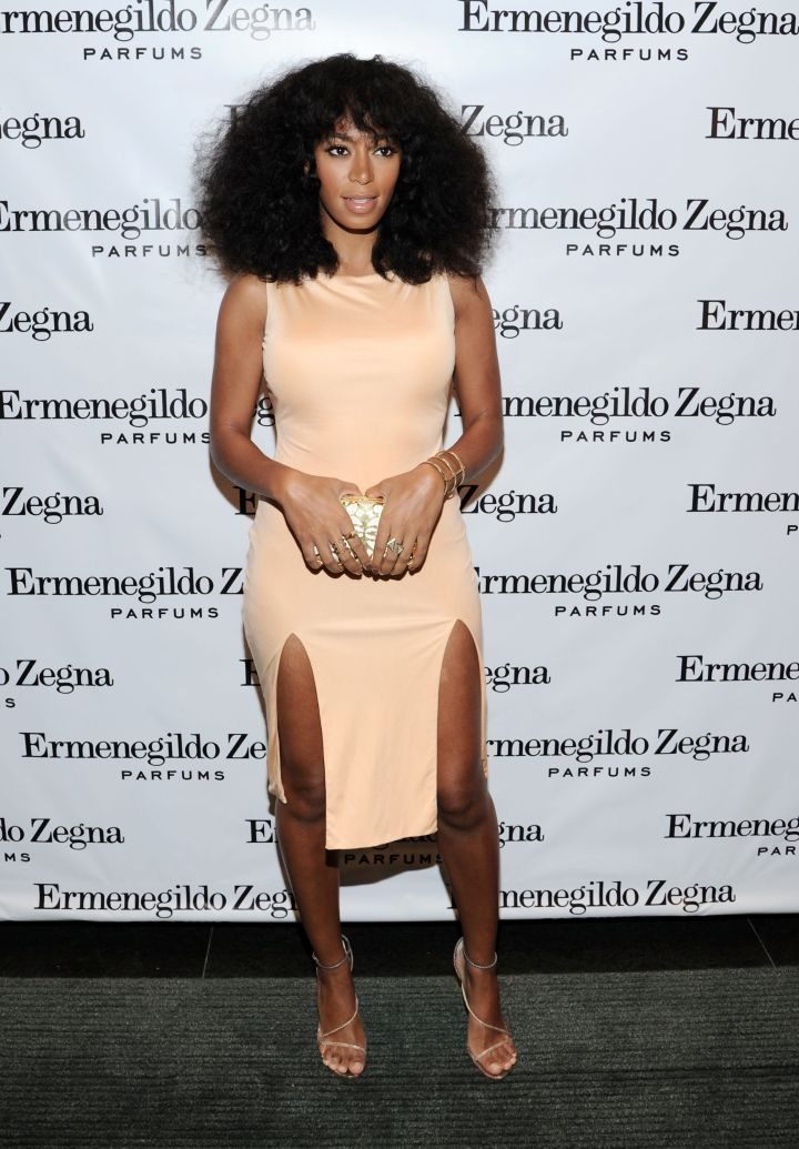 "Solange Knowles attends Ermenegildo Zegna ""Essenze"" Collection Launch event"