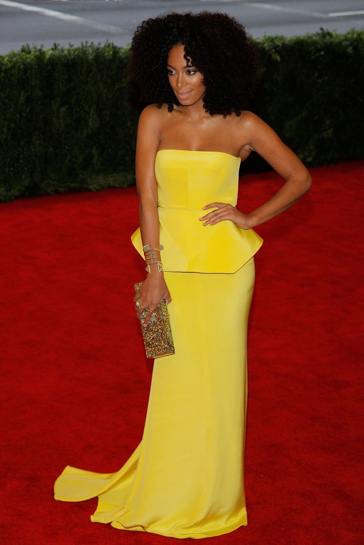 "Solange Knowles attends the ""Schiaparelli And Prada: Impossible Conversations"" Costume Institute Gala"