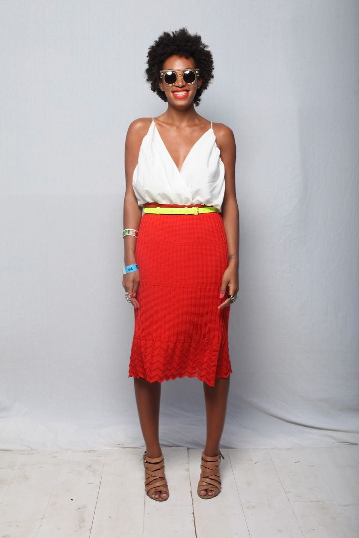 Solange Knowles poses for a portrait backstage at 2012 SXSW Music, Film + Interactive Festival