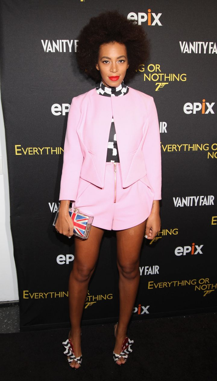 """Solange Knowles attends the """"Everything Or Nothing: The Untold Story Of 007″ premiere"""