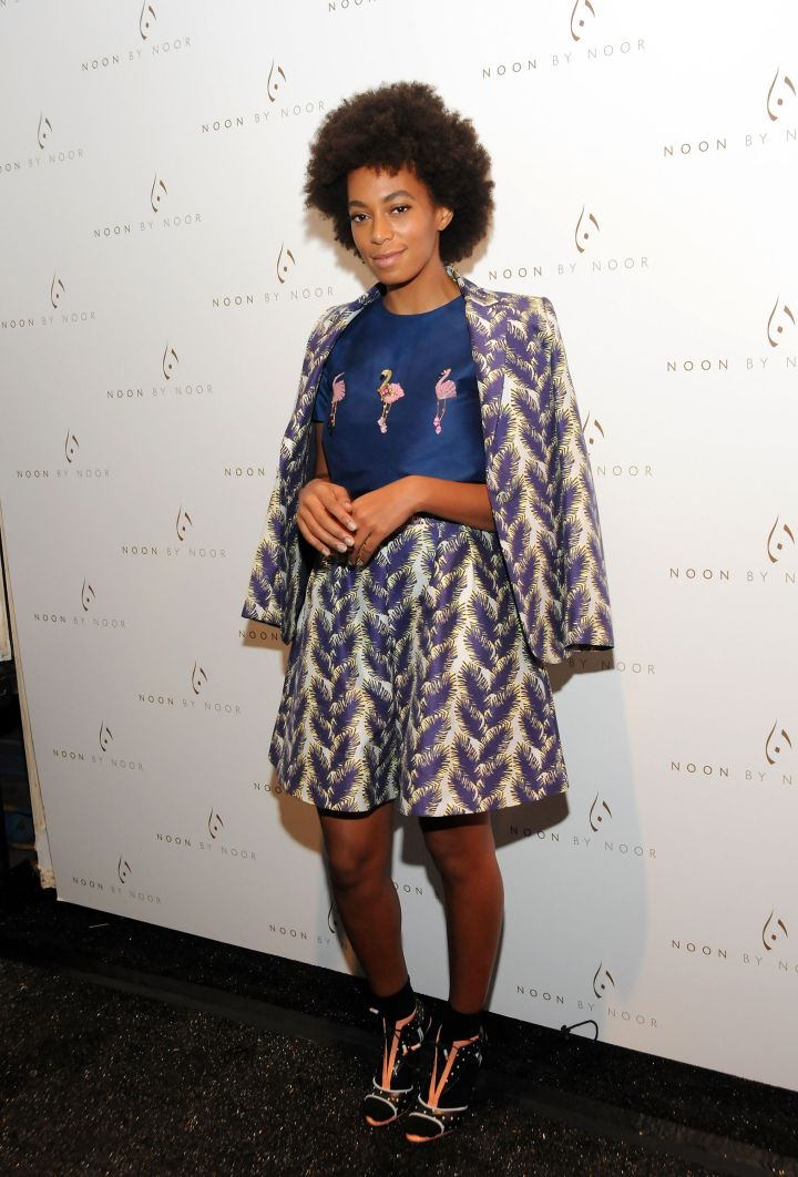 Solange Knowles attends the Noon By Noor show
