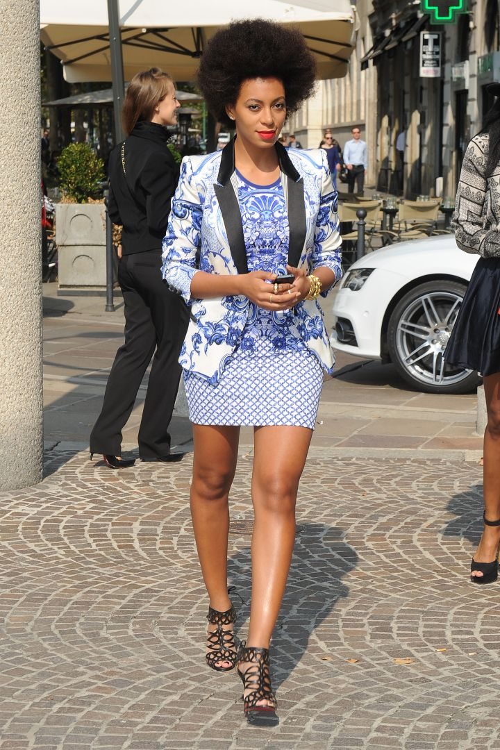 Solange Knowles attends the Just Cavalli Spring/Summer 2013 fashion show
