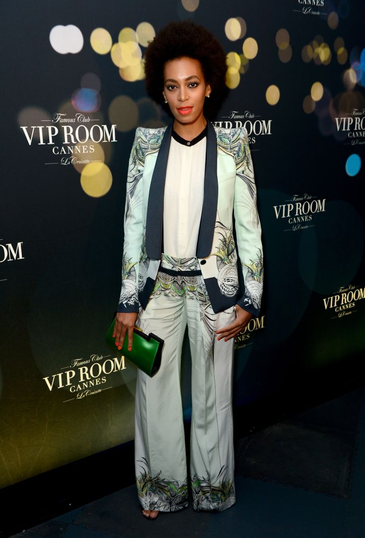 Solange Knowles attends a party hosted by Belvedere vodka at The 66th Annual Cannes Film Festival