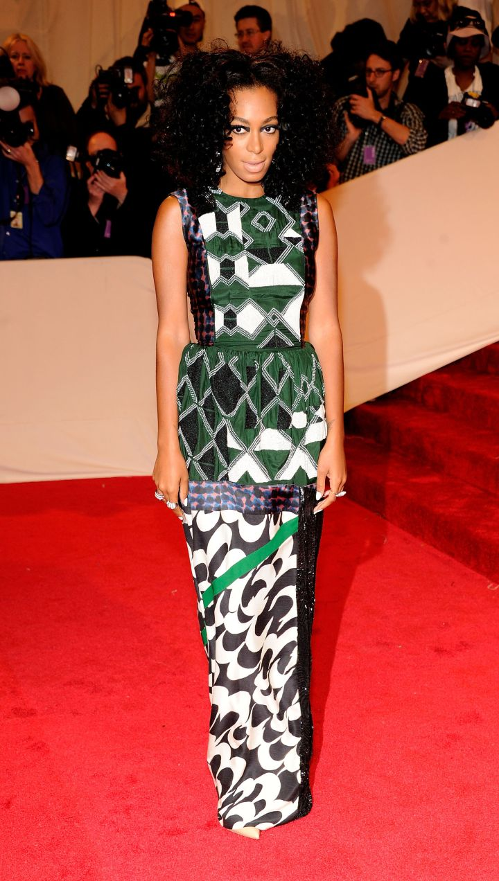 """Solange Knowles attends the """"Alexander McQueen: Savage Beauty"""" Costume Institute Gala"""