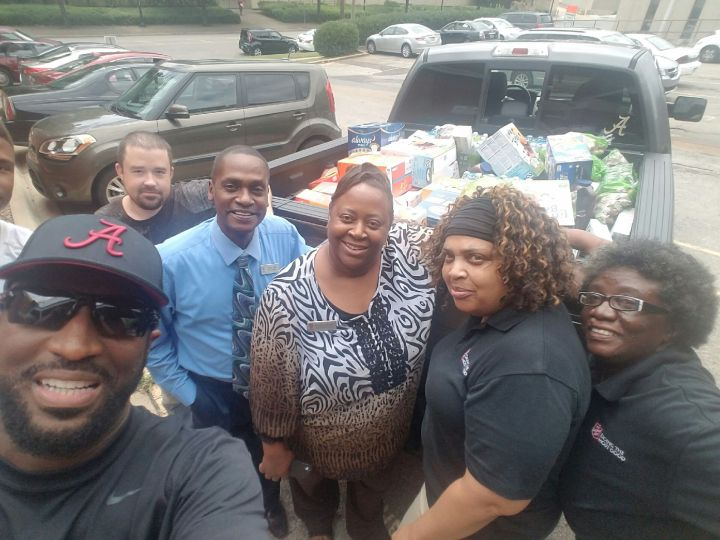 Rickey Smiley & Salvation Army Employees