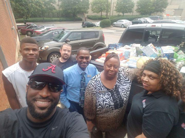 Rickey Smiley, Malik Smiley & Salvation Army Employees