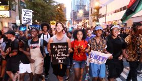 Protesters demonstrate against police violence in Chicago