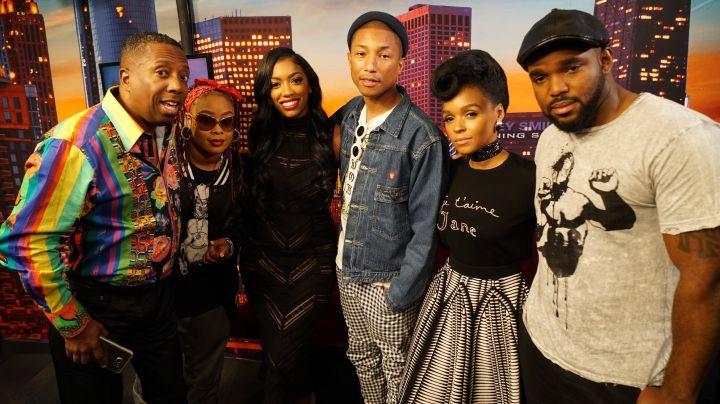 Pharrell Williams, Janelle Monaè, Da Brat & Crew From The Rickey Smiley Morning Show
