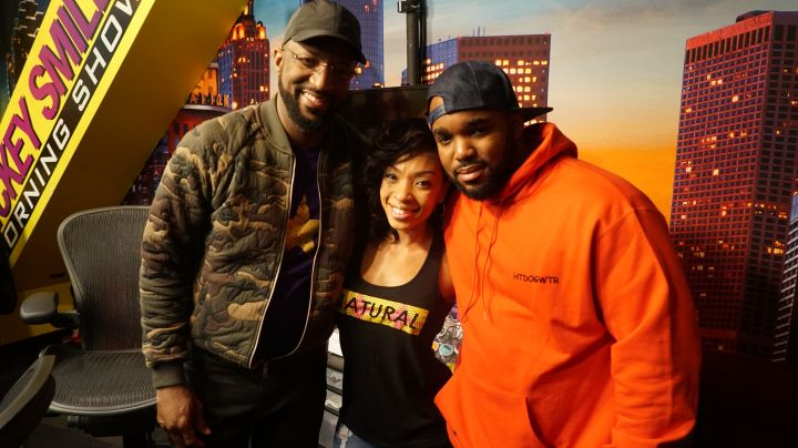 [L to R] Rickey Smiley, Maria More, Headkrack