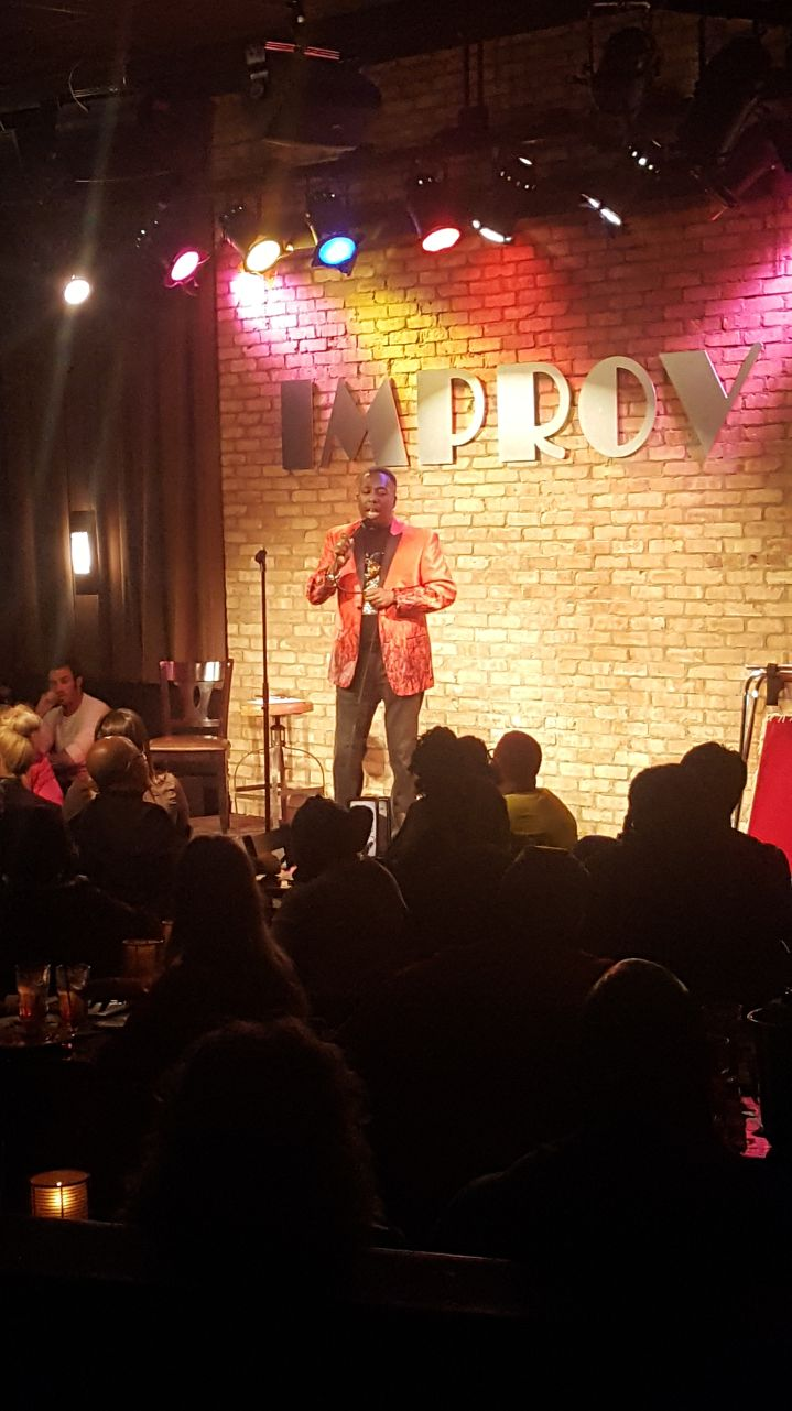 Gary With Da Tea Pouring Tea At The Arlington Improv