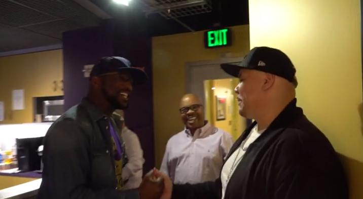 Rickey Smiley meeting Fat Joe for the first time.