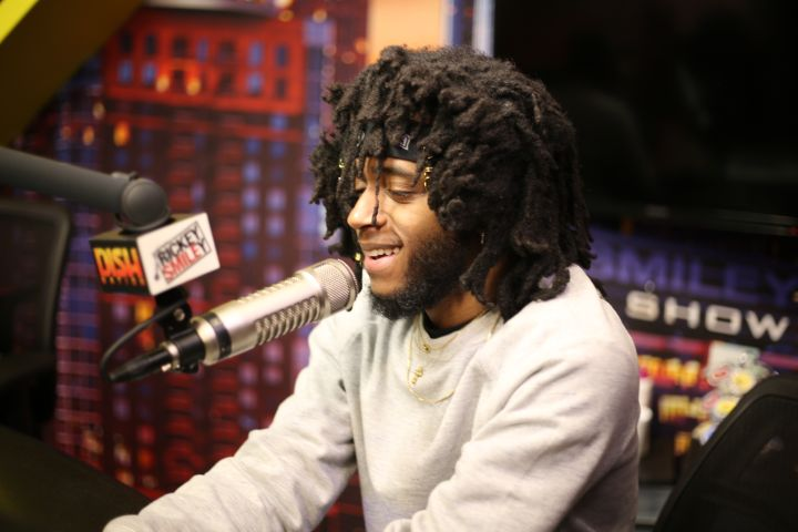 6LACK Visits The Rickey Smiley Morning Show