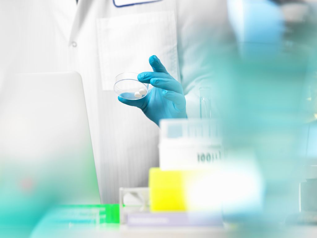 Clinical Trial, doctor preparing medicine for a medical trial