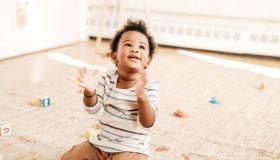 Playful toddler