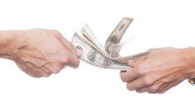 Us money in the hands.