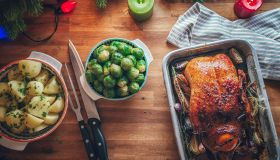 Traditional Christmas Duck Holiday Dinner