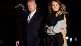 President Trump And First Lady Melania Trump Return To The White House