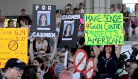 Emotional crowd rallies in Fort Lauderdale to demand gun restrictions