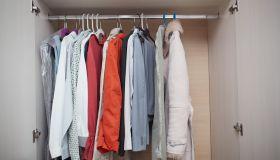 Open wardrobe inside