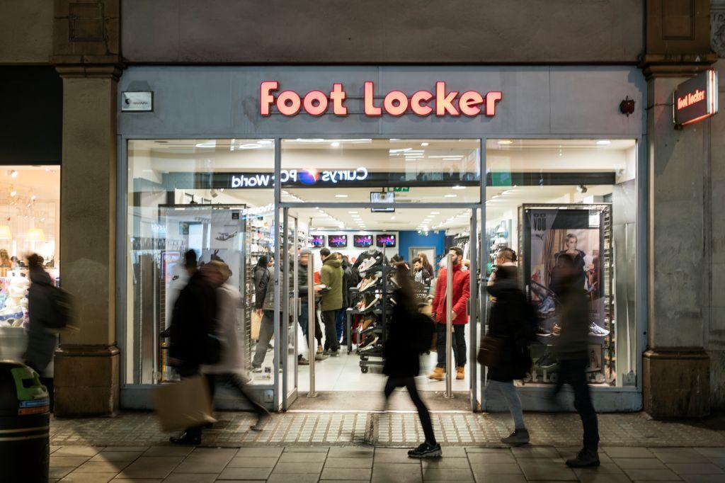Foot Locker store seen in London famous Oxford street.